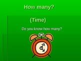 How many? Basic time PP presentation