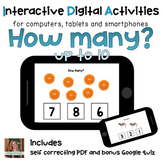 How many? ⋅ Counting Digital PDF ⋅ Interactive Activities