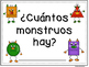 Number recognition 1-10-How many Monsters? English and Spanish