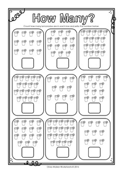 How many? Numbers 10 - 20, Ten to Twenty, Count and Write Worksheets