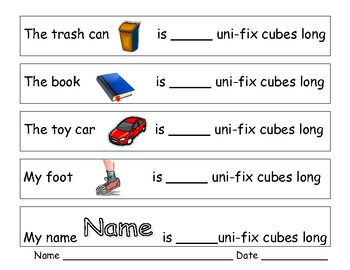 How many Uni-fix Cubes long