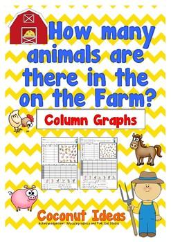 How many animals on the farm?- Column Graph
