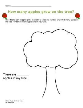 How many apples grew on the tree? Math Activity