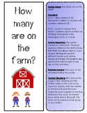 How many are on the farm mini book K.CC.3 K.CC.5 Counting Kindergarten
