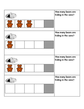 How many bears are hiding in the cave?