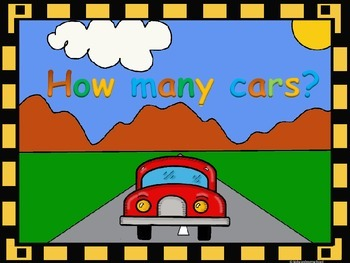 Number recognition 1-10. How many cars? ¿Cuántos carros?