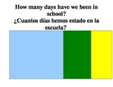 How many days have we been in school? English and Spanish