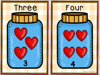 Numbers 0 a 20-Bilingual. How many hearts? Cuenta corazones.