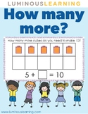 How many more? Fun math game with unifix cubes