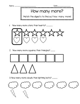 How many more? worksheet