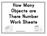 How many objects are there Number work sheets