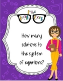 How many solutions to a system?