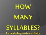 How many syllables?