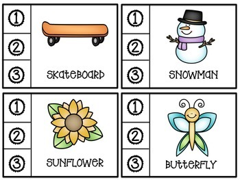 How many syllables task cards (compound words)