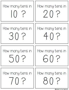 How many tens in a number Memory game