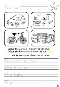 Vehicles Game and Worksheets for EAL / ESL / ELL /EFL/ ELD