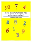 How many ways can you make the number? (1-10) Aligned to C