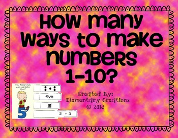 How many ways to make numbers 1-10?