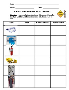 How much do you know about lab safety worksheet