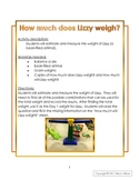 How much does Lizzy weigh? A Gram Measurement Exploration
