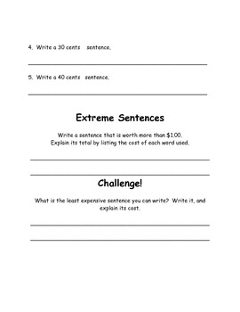 How much does my sentence cost?