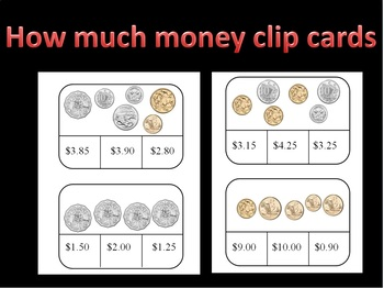 How much? A coin counting clip card game using Australian coins