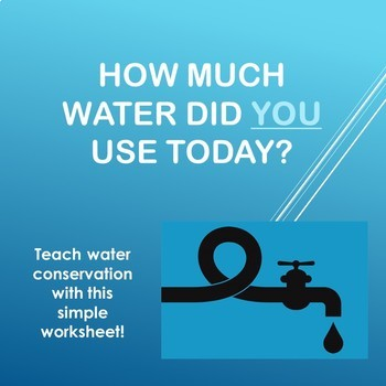 How much water did YOU use today?