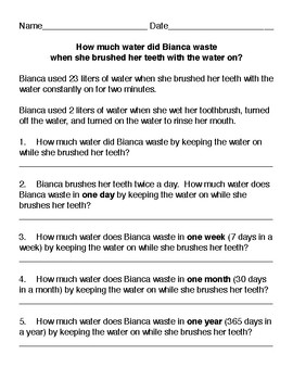 How much water do you waste when you brush your teeth?