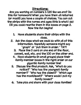 How old are you? Numbers to 100 Homework, CCSS 1st grade math!