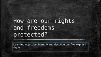 How our rights and freedoms are protected