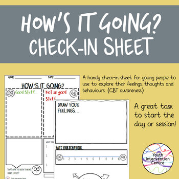 How's it going? Mentoring check-in sheet