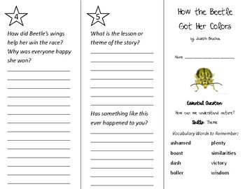 How the Beetle Got Her Colors Trifold - Wonders 2nd Grade Unit 4 Week 4