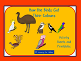 How the Birds Got Their Colours Activity Sheets and Printables