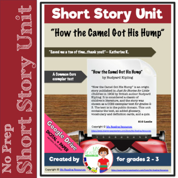 How The Camel Got His Hump Short Story Unit