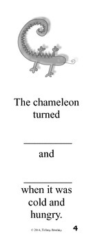 How the Chameleon Changed! for The Mixed-Up Chameleon by Eric Carle