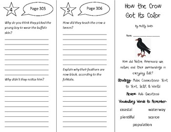 How the Crow Got Its Color Trifold - 4th Grade Literacy by Design Theme 9