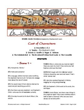 """""""How the Elephant Got Its Trunk"""" Jungle Book Reader's Theater"""