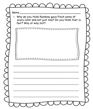 How the Finch Got His Colors folktale story activities