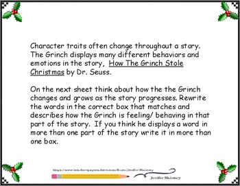 How the Grinch Changes Character