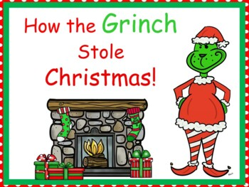 How the Grinch Stole Christmas ~ 38 pgs of Common Core Activities