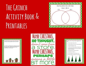 How the Grinch Stole Christmas Activity Book