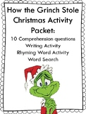 How the Grinch Stole Christmas Activity Packet