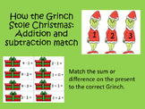 How the Grinch Stole Christmas - Addition and Subtraction Match