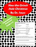 How the Grinch Stole Christmas Comprehension Assessment