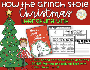The Grinch Christmas Tree.How The Grinch Stole Christmas Comprehensive Literature Unit