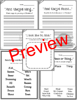 How the Grinch Stole Christmas. Dr. Seuss. Worksheets and Activities