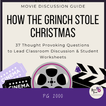 How the Grinch Stole Christmas- Movie Discussion Guide! Perfect for Christmas!