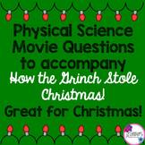 Christmas Science Movie Questions to accompany How the Gri