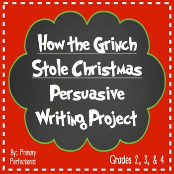 How the Grinch Stole Christmas Persuasive Writing Project