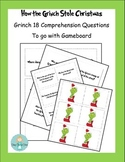 Grinch Day Comprehension Question Cards for Gameboard